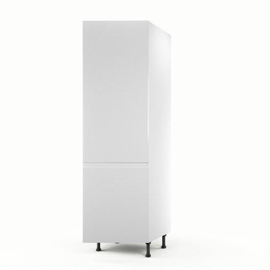 Meuble de cuisine colonne blanc 1 porte graphic x l for Colonne cuisine profondeur 40