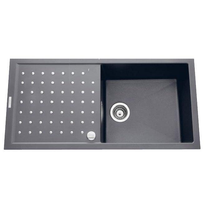 evier encastrer granit et r sine gris m tallis luna. Black Bedroom Furniture Sets. Home Design Ideas