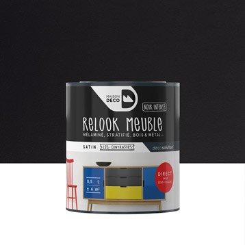 Peinture pour meuble, objet et porte, satiné, MAISON DECO, noir 0,5 l