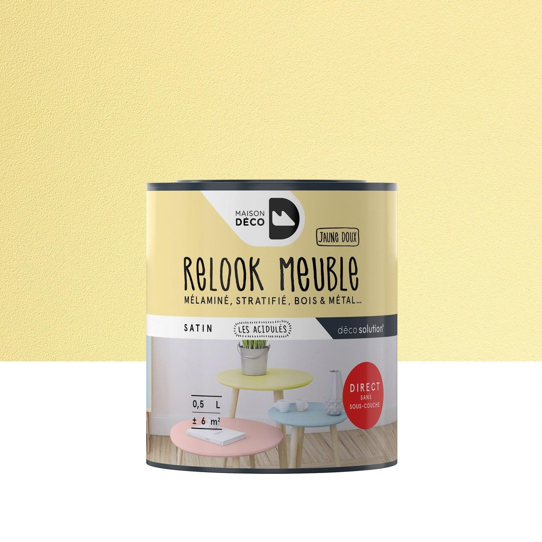 Peinture Pour Meuble Relook Meuble Maison Deco Jaune 0 5 L Leroy