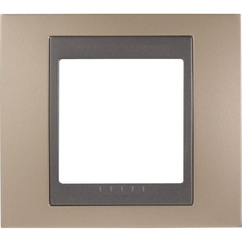 Plaque Simple Unicatop Schneider Electric Cuivre Onyx Et Graphite