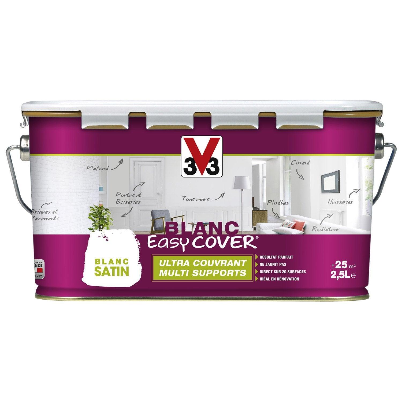 peinture blanche mur plafond et boiserie easy cover v33 satin 2 5 l leroy merlin. Black Bedroom Furniture Sets. Home Design Ideas