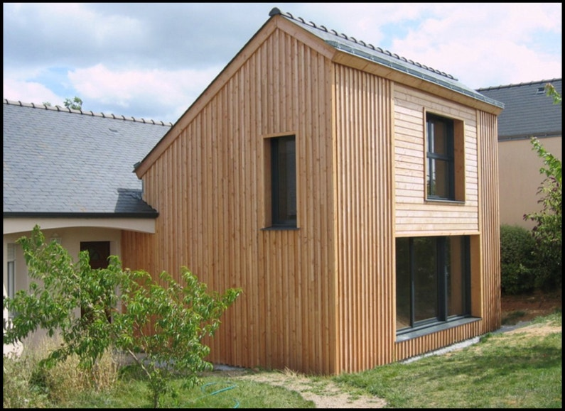 Une extension en bois leroy merlin for Extension maison 74