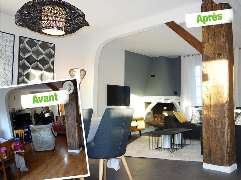 relooking d 39 un salon leroy merlin. Black Bedroom Furniture Sets. Home Design Ideas