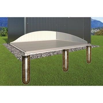 Plancher avec fondations en métal BIOHORT, l.252 x H.6 x P.252 cm