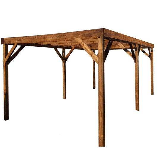 carport bois karport 1 voiture 15 m leroy merlin. Black Bedroom Furniture Sets. Home Design Ideas