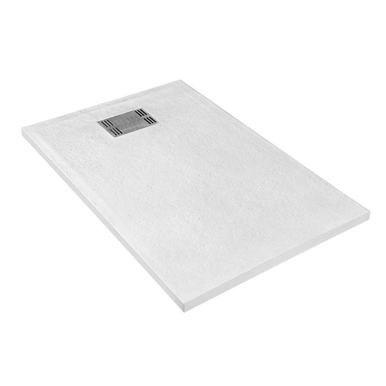 Receveur De Douche Rectangulaire L 120 X L 80 Cm Resine Blanc Slate