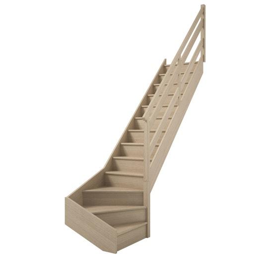 escalier soft quart tournant bas droit h274 rampe wood. Black Bedroom Furniture Sets. Home Design Ideas
