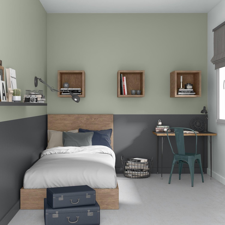 Chambre Adolescent Gris / Argent Vert LUXENS Industriel