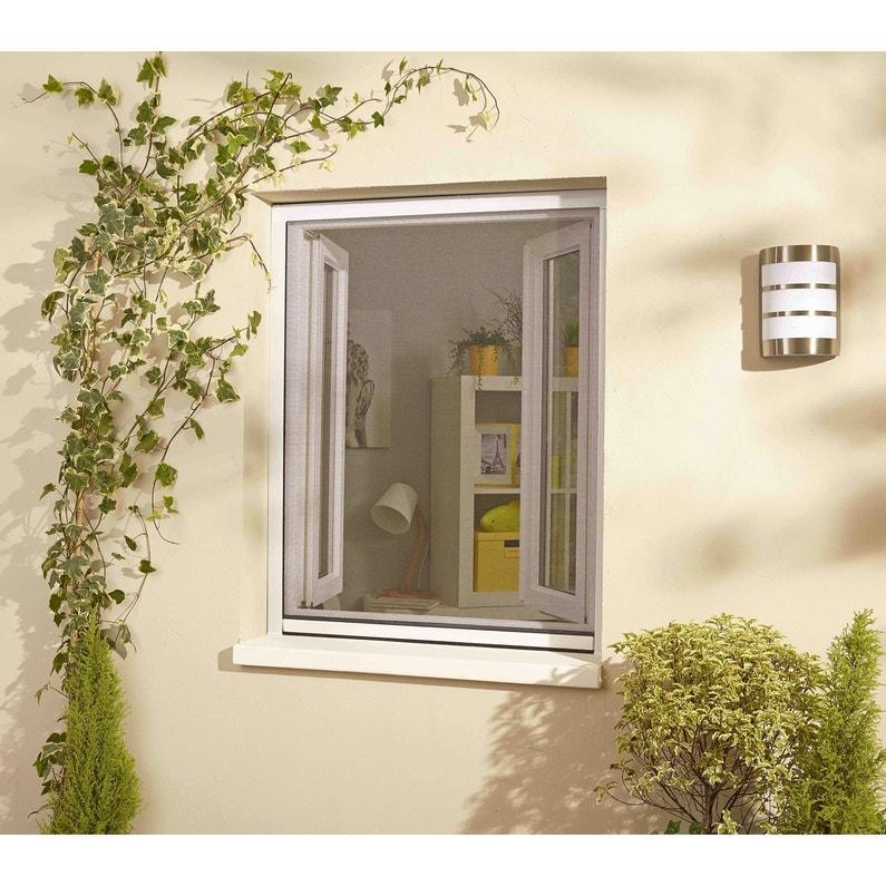 Moustiquaire Ajustable à Enroulement Vertical Pour Fenêtre H160 X L130 Cm