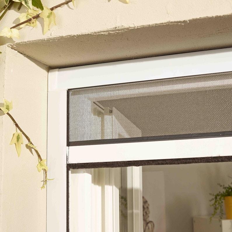 Moustiquaire Ajustable à Enroulement Vertical Pour Fenêtre H160 X L
