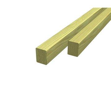 Lambourde Pour terrasse bois résineux, vert, L.3 m x l.7.5 cm x Ep.50 mm