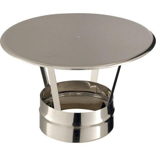 chapeau pare pluie simple poujoulat 130 mm leroy merlin. Black Bedroom Furniture Sets. Home Design Ideas