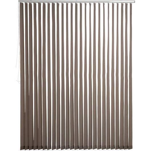kit rail lamelles verticales orientables brun taupe n3 inspire 200 x 260 cm