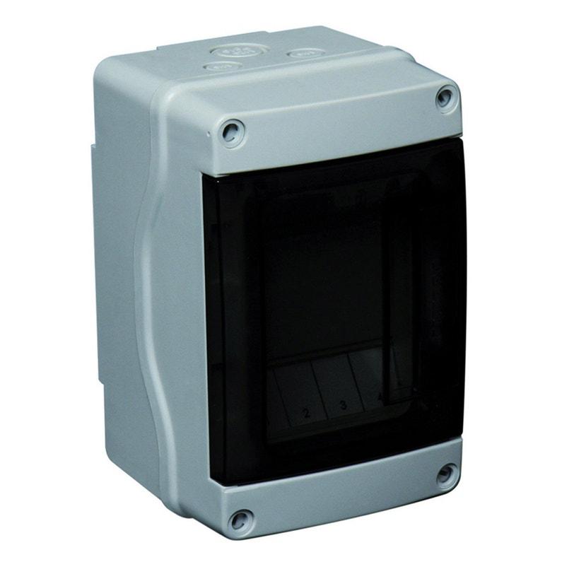 Tableau électrique étanche Nu Debflex 1 Rangée 4 Modules
