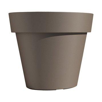 Pot polypropylène EURO3PLAST, ø.80 cm x H.71 cm, tourterelle
