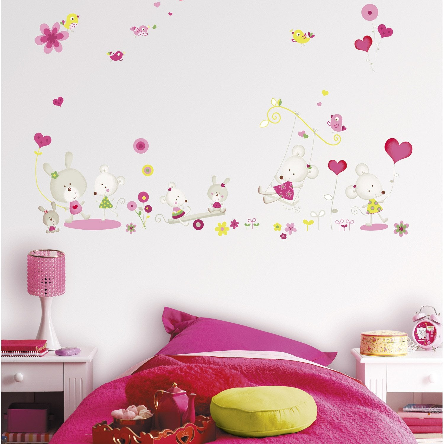 Sticker miss mousse 47 cm x 67 cm leroy merlin - Stickers pour chambre fille ...