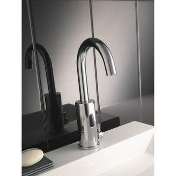 Mitigeur de lave-mains eau chaude et froide infrarouge chromé Impuls