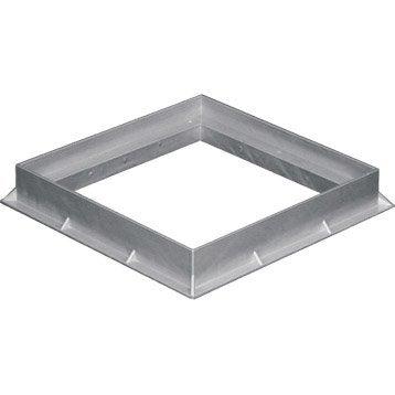 Cadre pvc gris FIRST PLAST, L.40 x l.40 cm