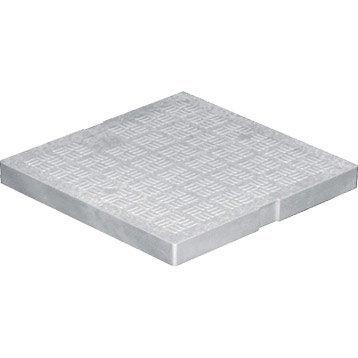 Tampon de sol antichoc pvc gris FIRST PLAST, L.30 x l.30 cm