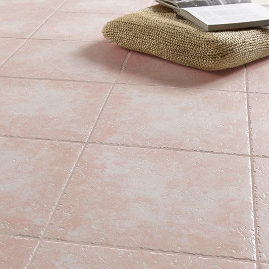 carrelage sol et mur rose effet pierre michigan x l