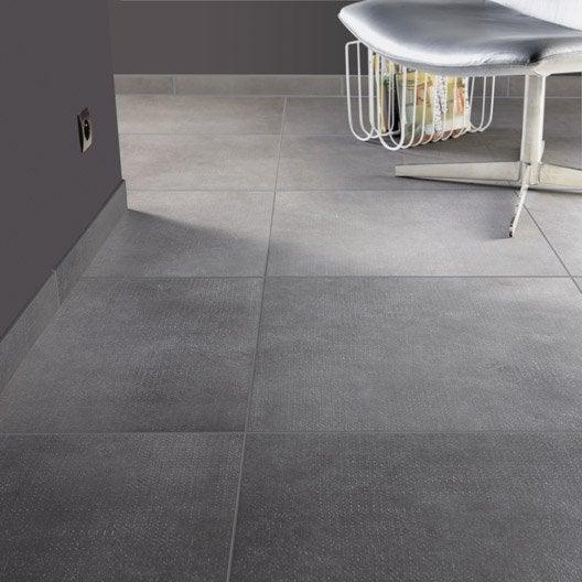 Carrelage sol et mur gris fer effet b ton asphalte x for Carrelage gris beton