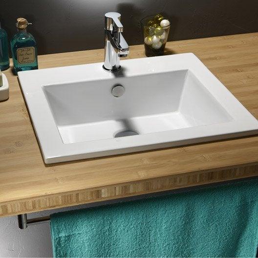 vasque encastrer c ramique x cm blanc keo leroy merlin. Black Bedroom Furniture Sets. Home Design Ideas