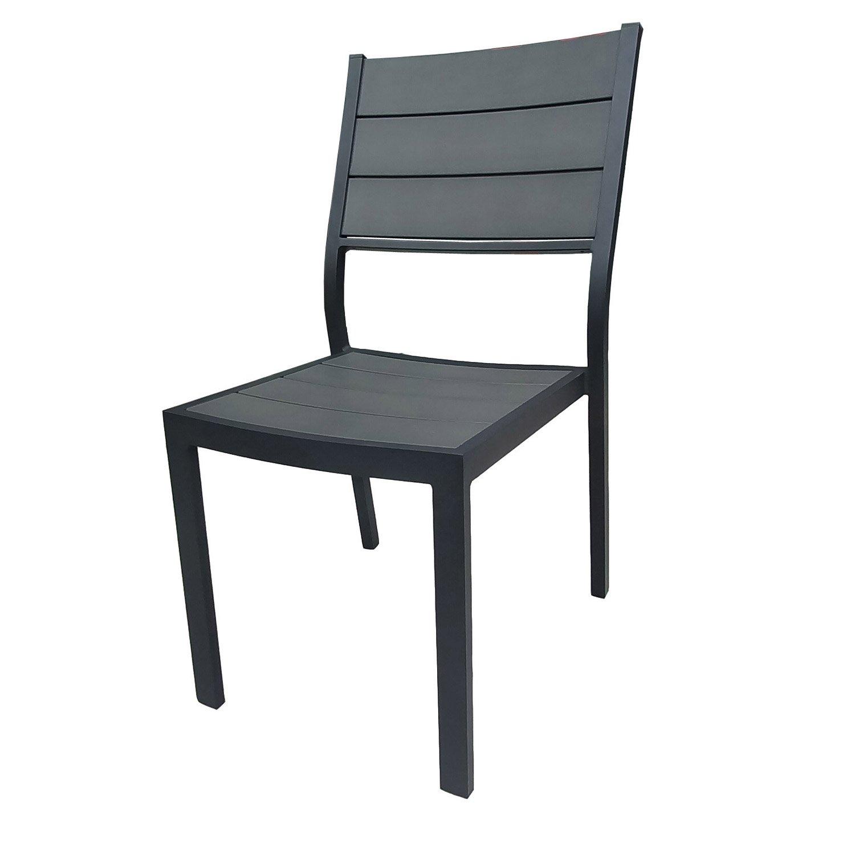 chaise de jardin en r sine pratt gris leroy merlin. Black Bedroom Furniture Sets. Home Design Ideas