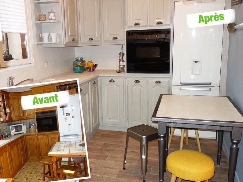 Relooking des meubles de cuisine leroy merlin - Relooking meuble cuisine ...