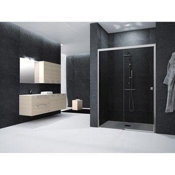 Porte de douche au meilleur prix leroy merlin - Porte coulissante 140 cm ...