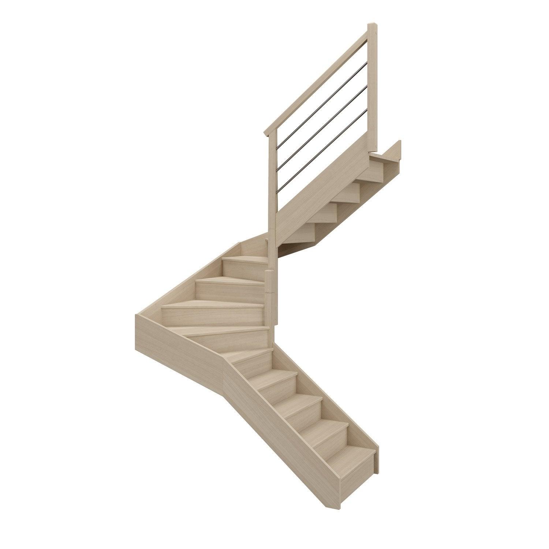 escalier soft double quart tournant interm diaire droit. Black Bedroom Furniture Sets. Home Design Ideas