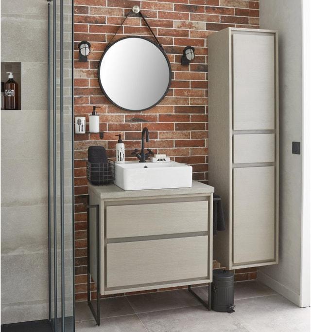Une salle de bains au style vintage industriel | Leroy Merlin