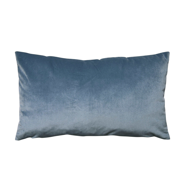 Coussin Dubbo velours INSPIRE Dubbo, bleu l.50 x H.30 cm