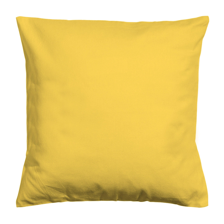 Housse de coussin Newelema, jaune H.40 x l.40 cm