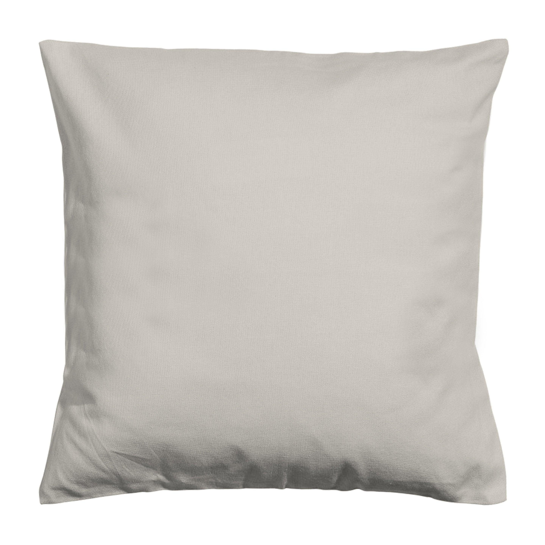 Housse de coussin Newelema, beige H.40 x l.40 cm