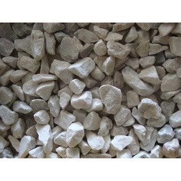 Graviers pierre naturelle blanc Quartz blanc 6/14mm, 25 kg