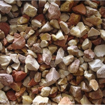 Graviers pierre naturelle rose Calcaire rose 8/14mm, 25 kg