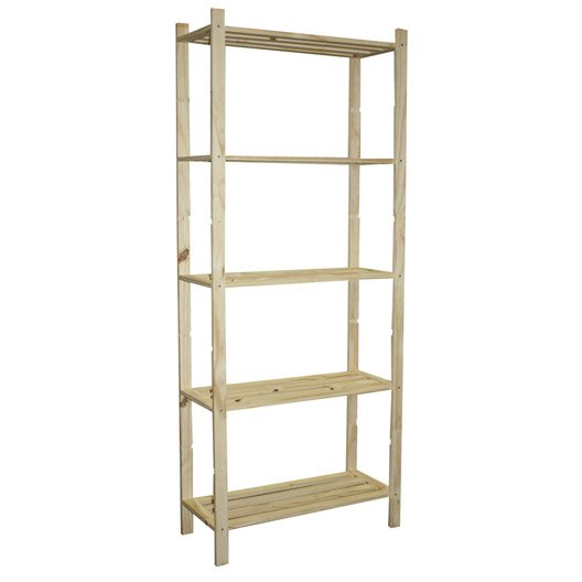 Etag re pin 5 tablettes x x cm leroy - Etagere cremaillere leroy merlin ...