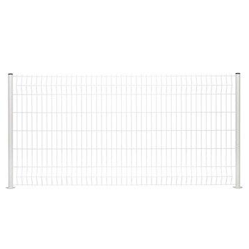 Panneau grillagé NATERIAL blanc H.1.4 x L.2.48 m, maille H.200 x l.50 mm