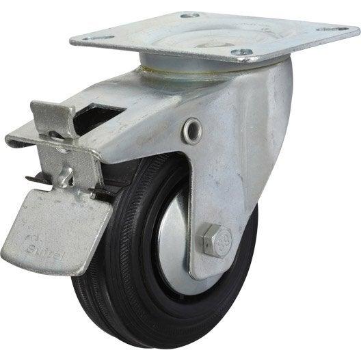 Roulette pivotante freins platine mm leroy for Espejo 80x60 leroy merlin