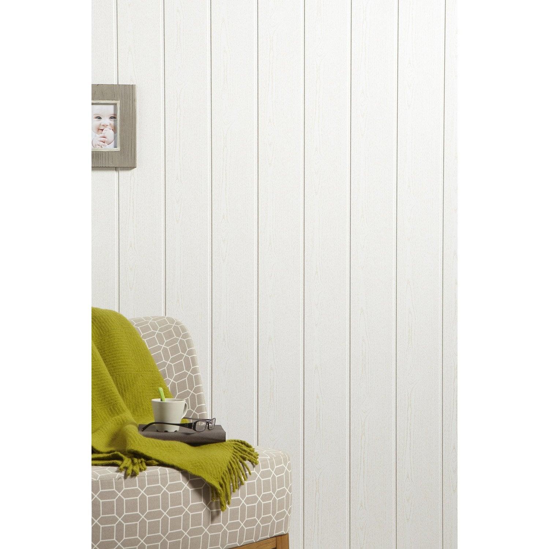 lambris mdf rev tu fr ne blanc x cm ep 8 mm leroy merlin. Black Bedroom Furniture Sets. Home Design Ideas