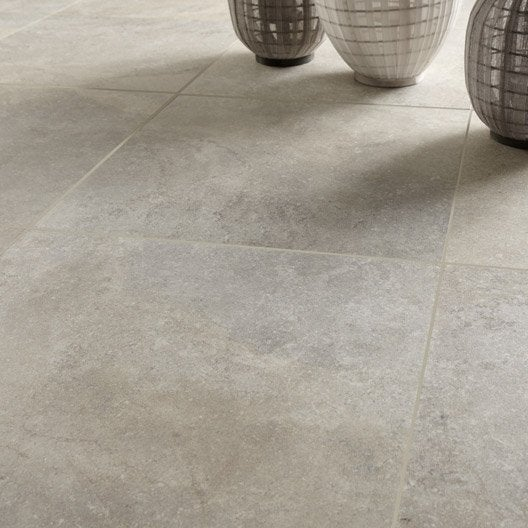 Carrelage sol et mur beige effet pierre pietra x - Carrelage beige salon ...