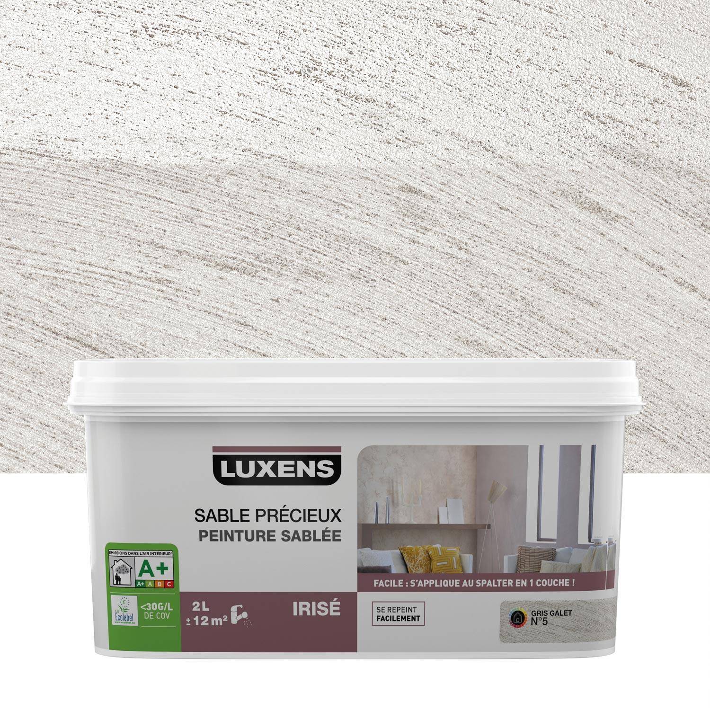 peinture effet sable pr cieux luxens gris galet 6 2 l leroy merlin. Black Bedroom Furniture Sets. Home Design Ideas