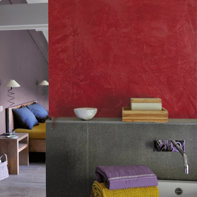 Peinture à effet, Tadelakt LUXENS, rouge corail 2, 5 l ...