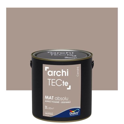 peinture gris cendre mat dulux valentine architecte 2 l. Black Bedroom Furniture Sets. Home Design Ideas