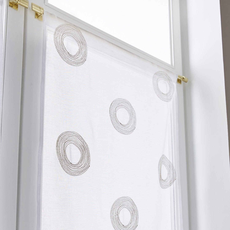 paire de vitrages tamisant petite hauteur cosmos dor x cm vitrage. Black Bedroom Furniture Sets. Home Design Ideas