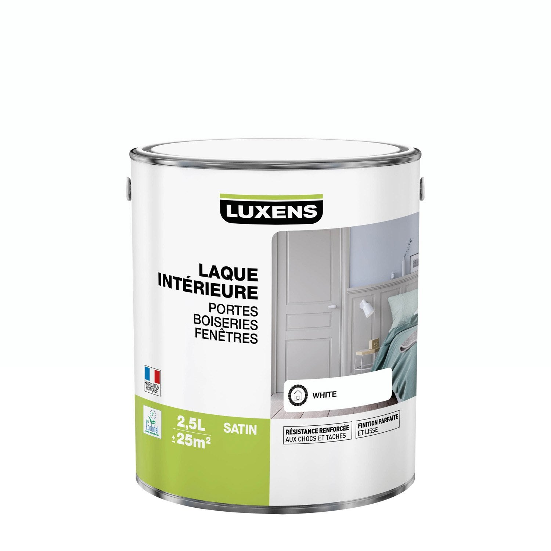 Peinture blanc satin LUXENS Laque 2.5 l | Leroy Merlin