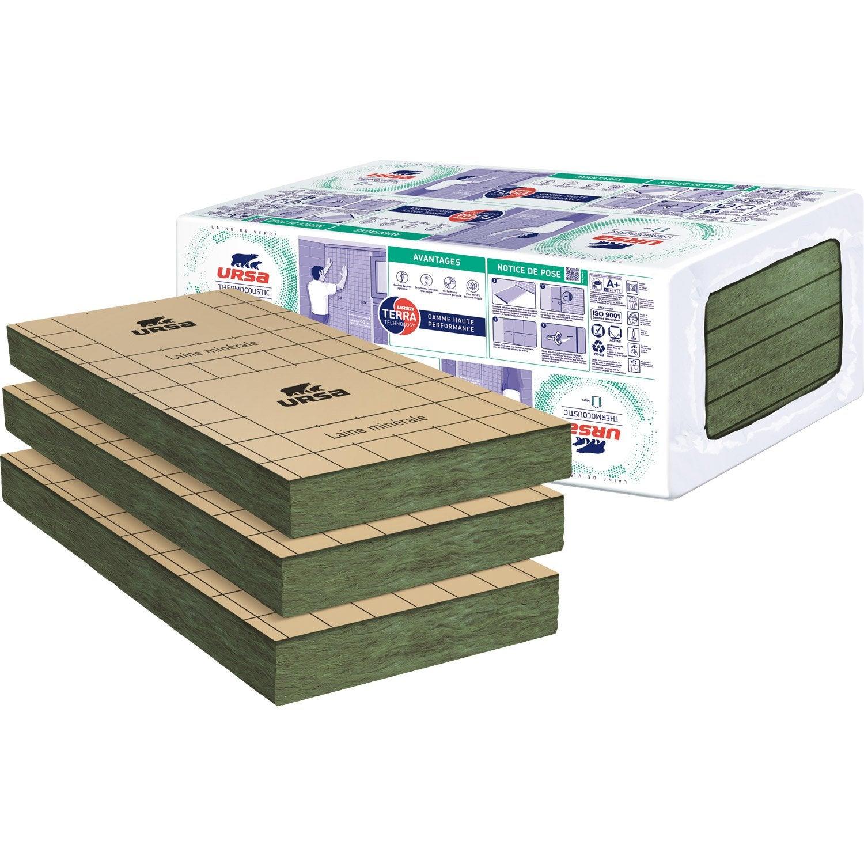 panneaux en laine de verre thermocoustic kraft 38 r 1 2 ursa leroy merlin. Black Bedroom Furniture Sets. Home Design Ideas