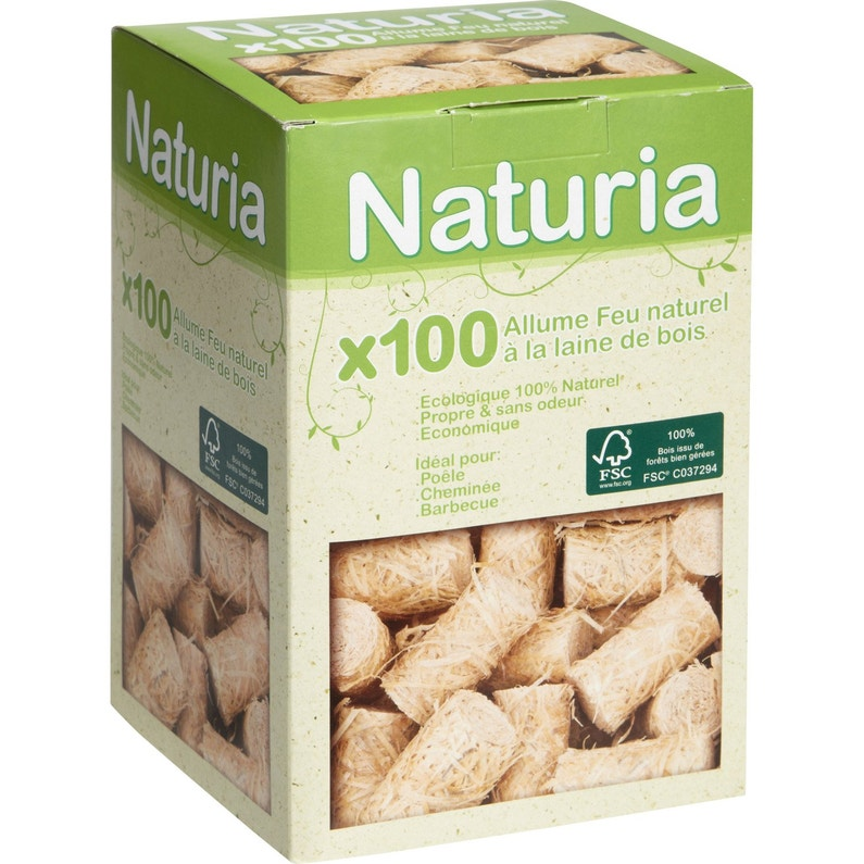 b21c4e7361d Allume-feux 100 % naturels NATURIA