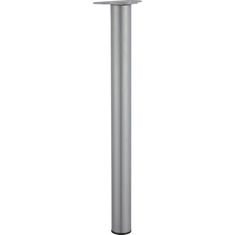 pied de table cylindrique r glable acier mat gris de 70 73 cm leroy merlin. Black Bedroom Furniture Sets. Home Design Ideas